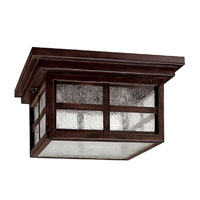 Capital Lighting Preston 3 Light Outdoor Ceiling in Mediterranean Bronze with Seeded Glass 9917MBZ photo thumbnail