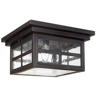 Preston 3 Light 11 inch Old Bronze Outdoor Flush Mount