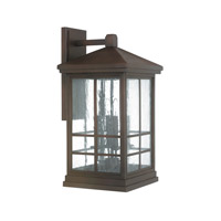 Capital Lighting Preston 4 Light Outdoor Wall Lantern in Mediterranean Bronze with Antique Glass 9918MZ