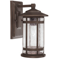 Capital Lighting Mission Hills 1 Light Outdoor Wall Lantern in Burnished Bronze with Seeded Glass 9951BB