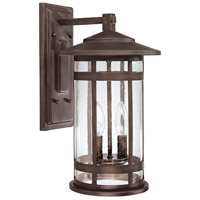 Capital Lighting Mission Hills 2 Light Outdoor Wall Lantern in Burnished Bronze with Seeded Glass 9952BB