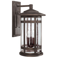 Mission Hills 3 Light Burnished Bronze Outdoor Wall Lantern