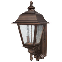 Capital Lighting Brookwood 2 Light Outdoor Wall Lantern in Burnished Bronze with Seeded Glass 9962BB