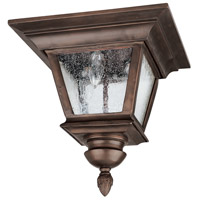 Capital Lighting Brookwood 3 Light Outdoor Ceiling in Burnished Bronze with Seeded Glass 9968BB