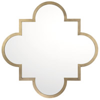 Signature 34 X 34 inch Brushed Gold Mirror Home Decor