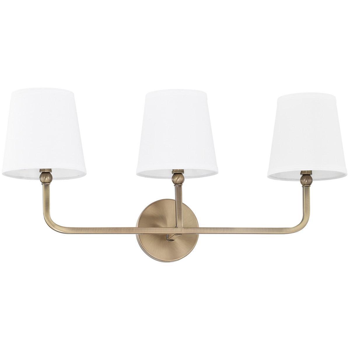 Capital lighting fixtures 119331ad 674 dawson bathroom vanity light aged brass