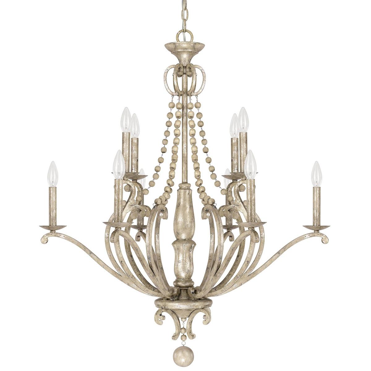 Capital lighting fixtures 4440sq 000 adele chandelier silver quartz