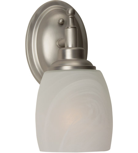 craftmade 10205bn1 legion 1 light 5 inch brushed satin nickel wall sconce wall light in brushed