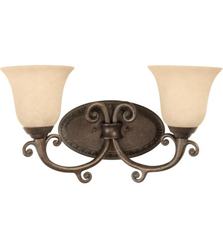Craftmade 10409pr2 aztec 2 light 17 inch peruvian bronze vanity light wall light in antique scavo