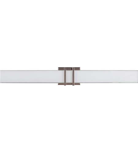 Craftmade 13836pln Led Bryant Led 36 Inch Polished Nickel Vanity Wall Light In White Frosted Glass