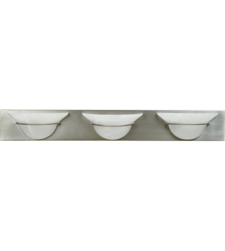 Craftmade 17136BN3 Moonglow 3 Light 36 inch Brushed Satin Nickel Vanity Light Wall Light in Alabaster Glass photo