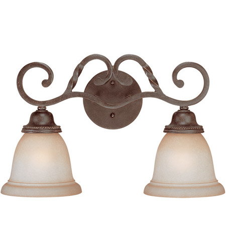 Craftmade 22402-ET Sutherland 2 Light 18 inch English Toffee Vanity Light Wall Light in Light Umber Etched photo