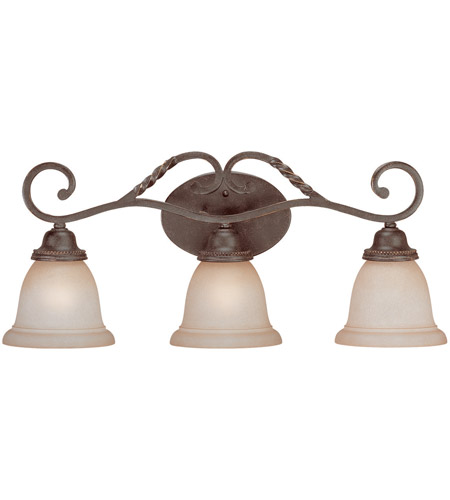 Craftmade 22403-ET Sutherland 3 Light 26 inch English Toffee Vanity Light Wall Light in Light Umber Etched photo