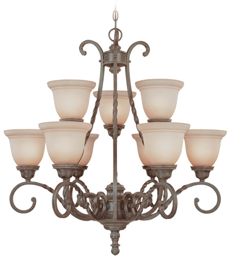 Craftmade 22429-ET Sutherland 9 Light 31 inch English Toffee Chandelier Ceiling Light photo