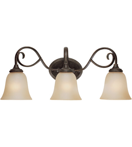 Craftmade 24203 Mb Barrett Place 3 Light 24 Inch Mocha Bronze Vanity Wall In Umber Etched