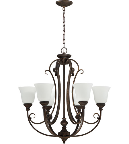 Craftmade 24226-MB-WG Barrett Place 6 Light 27 inch Mocha Bronze Chandelier Ceiling Light in White Frosted Glass photo