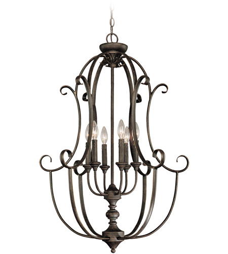 Jeremiah by Craftmade Barrett Place 6 Light Foyer Pendant in Mocha Bronze 24236-MB photo