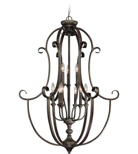 Jeremiah by Craftmade Barrett Place 9 Light Foyer Pendant in Mocha Bronze 24239-MB photo