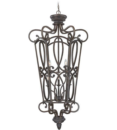 Craftmade 25236-MB Highland Place 6 Light 28 inch Mocha Bronze Foyer Light Ceiling Light, Cage photo