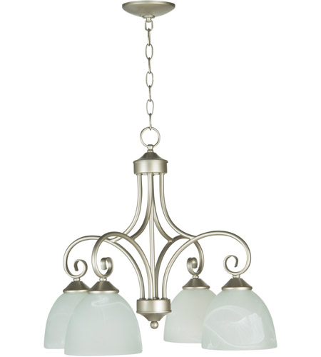 Satin Nickel Steel Raleigh Chandeliers
