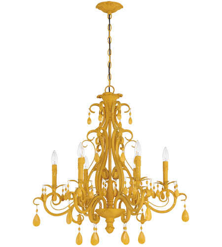 Yellow Chandeliers