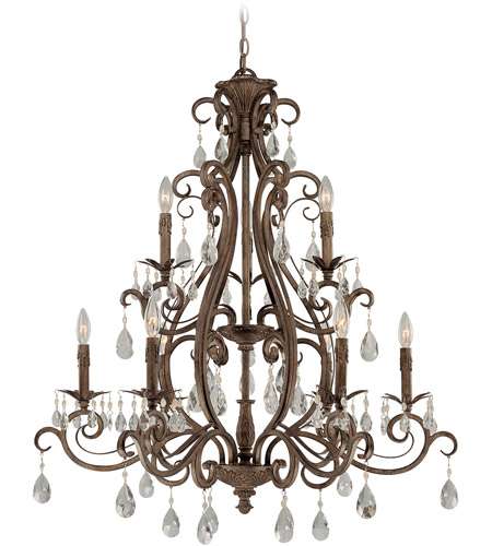 Craftmade 25629-FR Englewood 9 Light 35 inch French Roast Chandelier Ceiling Light photo