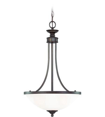 Craftmade 26133 Bz Wg Spencer 3 Light 16 Inch Bronze Inverted Pendant Ceiling Light In White Frosted Glass