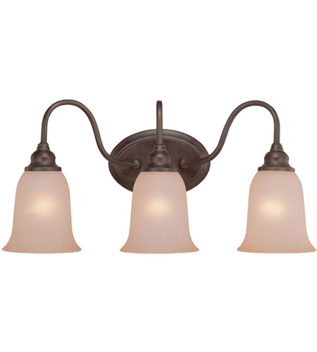 Craftmade 26303 olb linden lane 3 light 23 inch old bronze Stained glass bathroom light fixtures