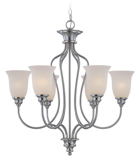 Craftmade 26326-SN Linden Lane 6 Light 28 inch Satin Nickel Chandelier Ceiling Light photo