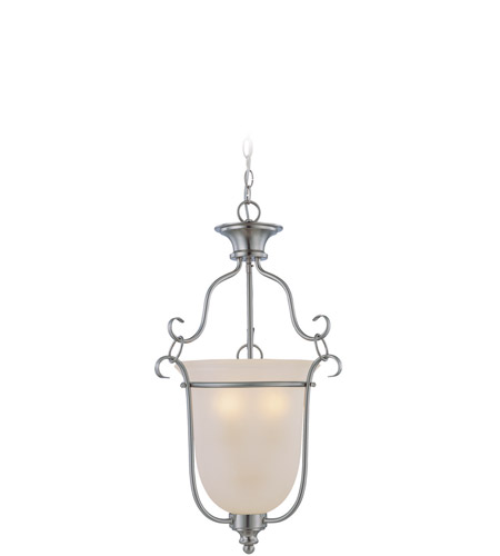 Jeremiah by Craftmade Linden Lane 3 Light Foyer Pendant in Satin Nickel 26343-SN photo