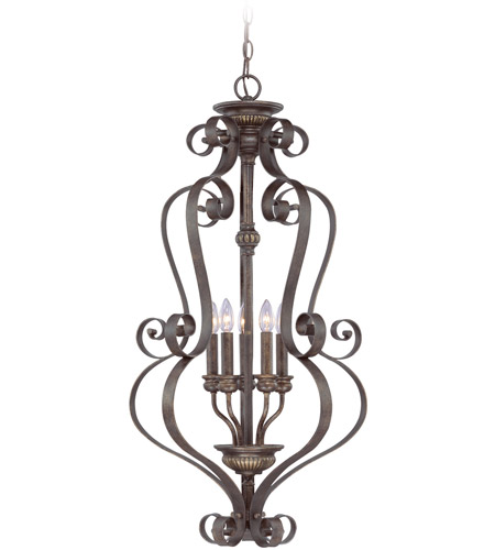 Jeremiah by Craftmade Kingsley 5 Light Foyer Pendant in Century Bronze 26535-CB photo