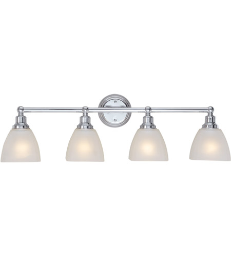 Craftmade 26604 ch bradley 4 light 33 inch chrome vanity light wall light in white frosted glass