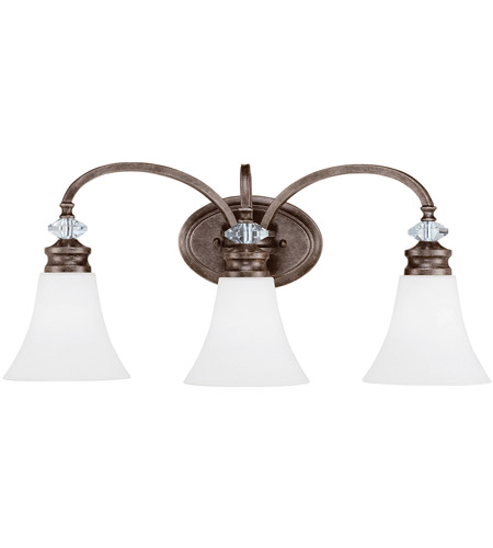Craftmade 26703 mbs wg boulevard 3 light 25 inch mocha bronze and silver accents