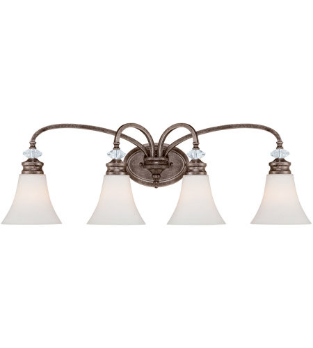 Craftmade 26704 mbs boulevard 4 light 33 inch mocha bronze and silver accents vanity light