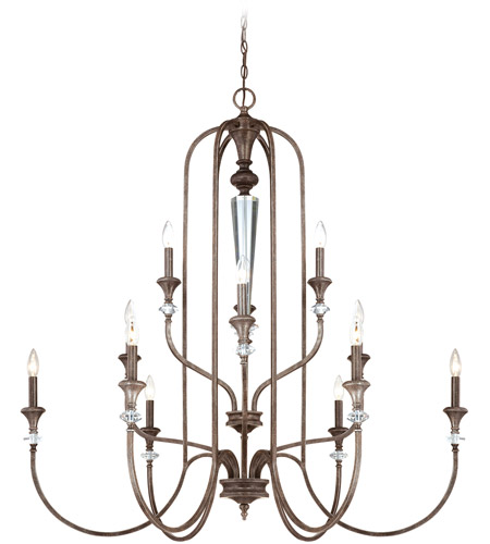 Craftmade 26712-MBS Boulevard 12 Light 44 inch Mocha Bronze and Silver Accents Chandelier Ceiling Light photo