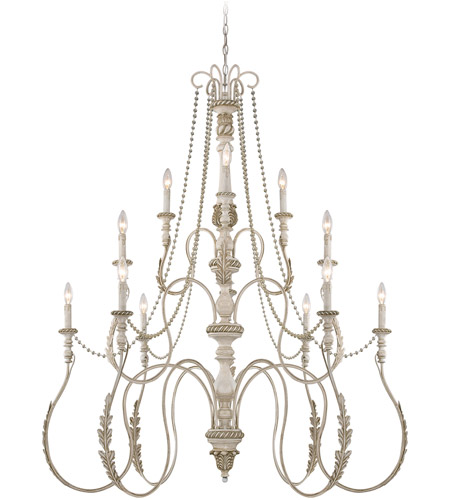 Craftmade 27312-ATL Zoe 12 Light 47 inch Antique Linen Chandelier Ceiling Light photo