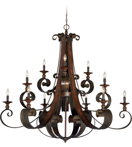 Craftmade 28012-SPZ Seville 12 Light 54 inch Spanish Bronze Chandelier Ceiling Light photo