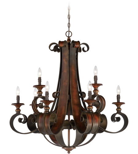 Craftmade 28029-SPZ Seville 9 Light 36 inch Spanish Bronze Chandelier Ceiling Light photo