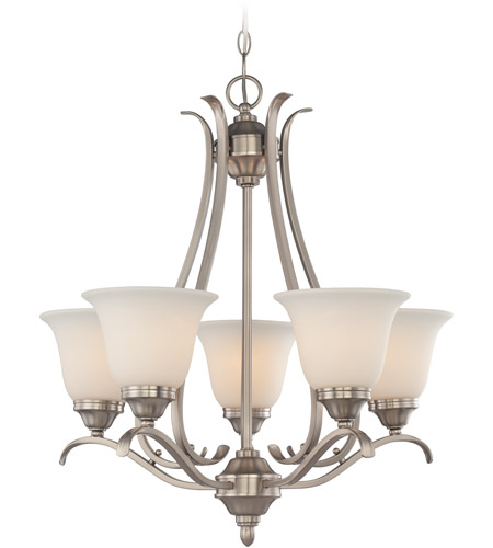 Brushed Polished Nickel Chandeliers