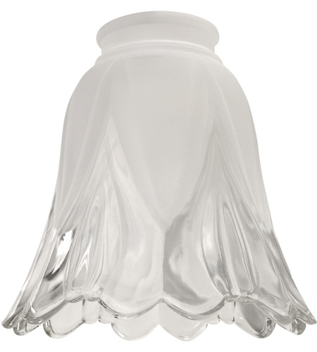 Craftmade 346 Signature Frost and Clear Fan Glass, Scalloped Bell photo