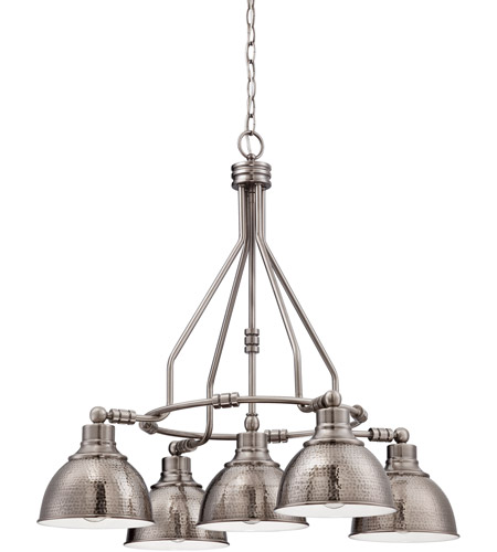 Craftmade 35925-AN Timarron 5 Light 30 inch Antique Nickel Chandelier  Ceiling Light - Craftmade 35925-AN Timarron 5 Light 30 Inch Antique Nickel