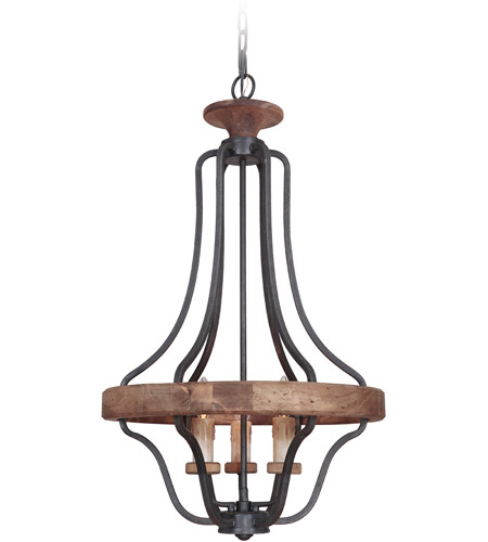 Craftmade 36543-TBWB Ashwood 3 Light 20 inch Textured Black and Whiskey Barrel Pendant Ceiling Light photo