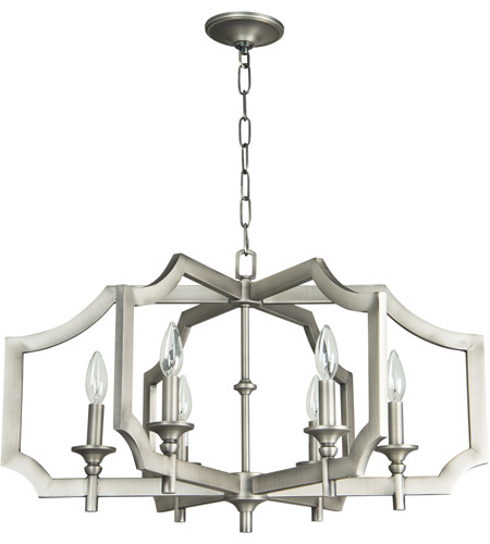 Craftmade 37326-AN Lisbon 6 Light 27 inch Antique Nickel Chandelier Ceiling Light photo