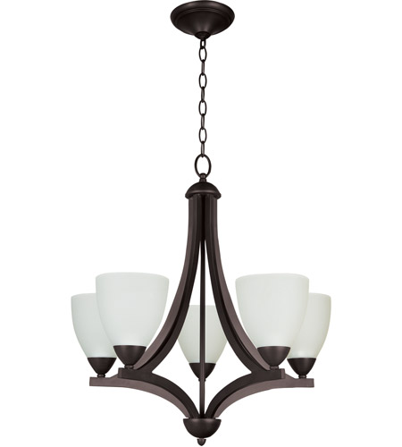 Craftmade 37725-OLB Almeda 5 Light 24 inch Old Bronze Chandelier Ceiling Light in Creamy Frosted Glass photo