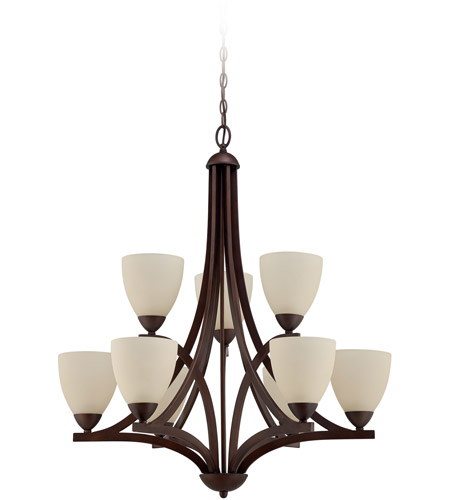 Craftmade 37729-OLB Almeda 9 Light 30 inch Old Bronze Chandelier Ceiling Light in Creamy Frosted Glass photo