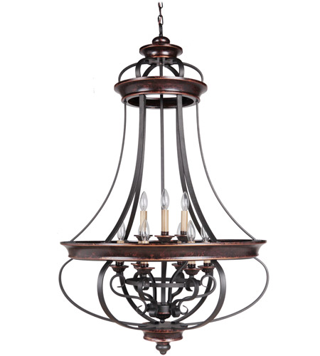 Craftmade 38739-AGTB Stafford 9 Light 31 inch Aged Bronze and Textured Black Foyer Light Ceiling Light photo