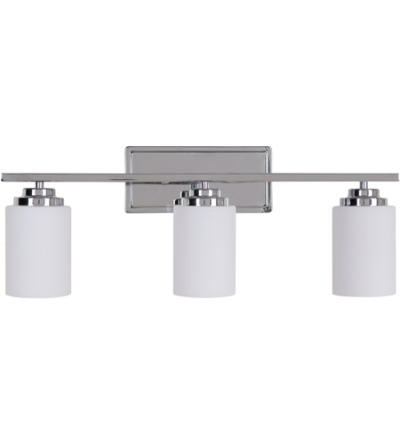 Craftmade 39703 ch albany 3 light 25 inch chrome vanity light wall light aloadofball Image collections