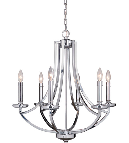 Craftmade 40026-CH Hayden 6 Light 25 inch Chrome Chandelier Ceiling Light photo