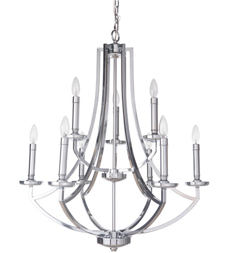 Craftmade 40029-CH Hayden 9 Light 28 inch Chrome Chandelier Ceiling Light photo