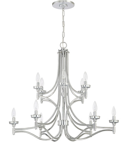 Craftmade 41412-CH Sophia 12 Light 32 inch Chrome Chandelier Ceiling Light photo